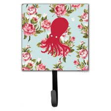 Octopus Shabby Elegance Roses Leash Holder and Wall Hook by Caroline's Treasures