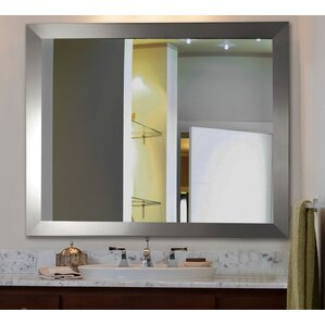 Modern Rectangle Wood Wall Mirror