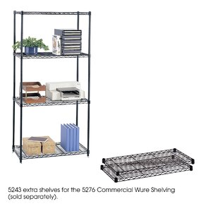 """Commercial Wire Shelving 36""""W Extra Shelves (Set of 2)"""