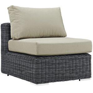 Summon Outdoor Patio Armless Chair With Cushion
