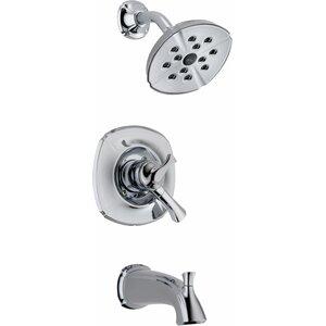 Addison Pressure Balance Diverter Tub and Shower Faucet Trim with Lever Handles Delta