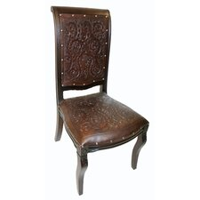 Colonial Imperial Leather Side Chair (Set of 4) by New World Trading