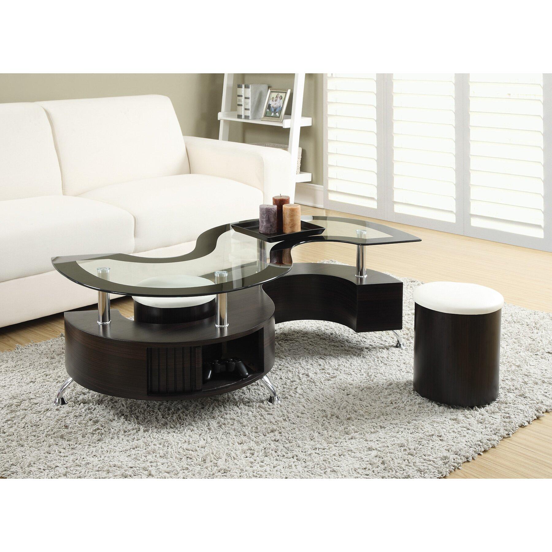 wade logan jonathan 3 piece coffee table set & reviews   wayfair