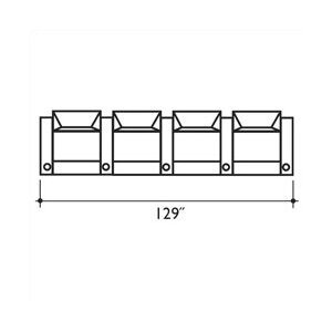 St. Tropez Home Theater Lounger (Row of 4) by Bass