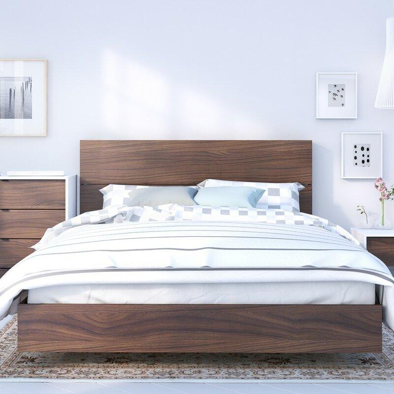 brayden studio etruscan twin platform bed & reviews | wayfair