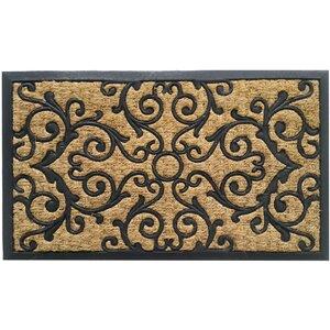 Coir and Rubber Indoor/Outdoor Non-Slip Doormat