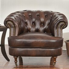 Michele Tufted Top Grain Leather Club Chair by Darby Home Co