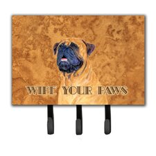 Mastiff Wipe Your Paws Leash Holder and Key Holder by Caroline's Treasures