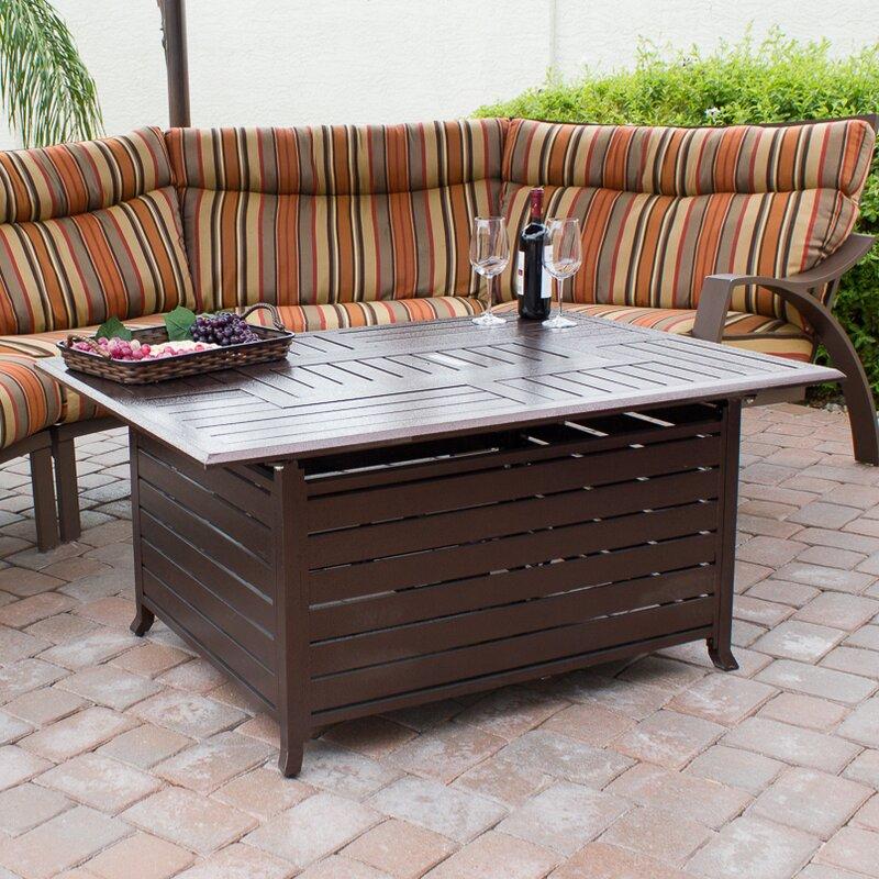 az patio heaters hammered bronze cast aluminum fire pit & reviews
