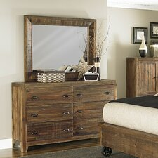 Gilman Ridge 6 Drawer Dresser with Mirror by Loon Peak