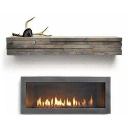 Dogberry Collections Modern Fireplace Mantel Shelf Reviews Wayfair
