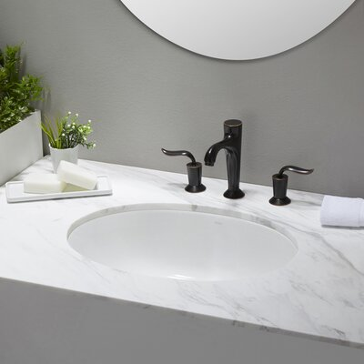 Elavo™ Oval Undermount Bathroom Sink With Overflow