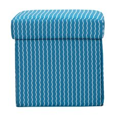 Serpentine Stripe Cerulean Box Ottoman by Crayola LLC