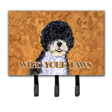 Portuguese Water Dog Wipe Your Paws Leash Holder and Key Holder by Caroline's Treasures