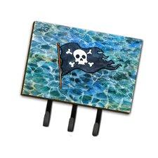 Pirate Flag Leash or Key Holder by Caroline's Treasures