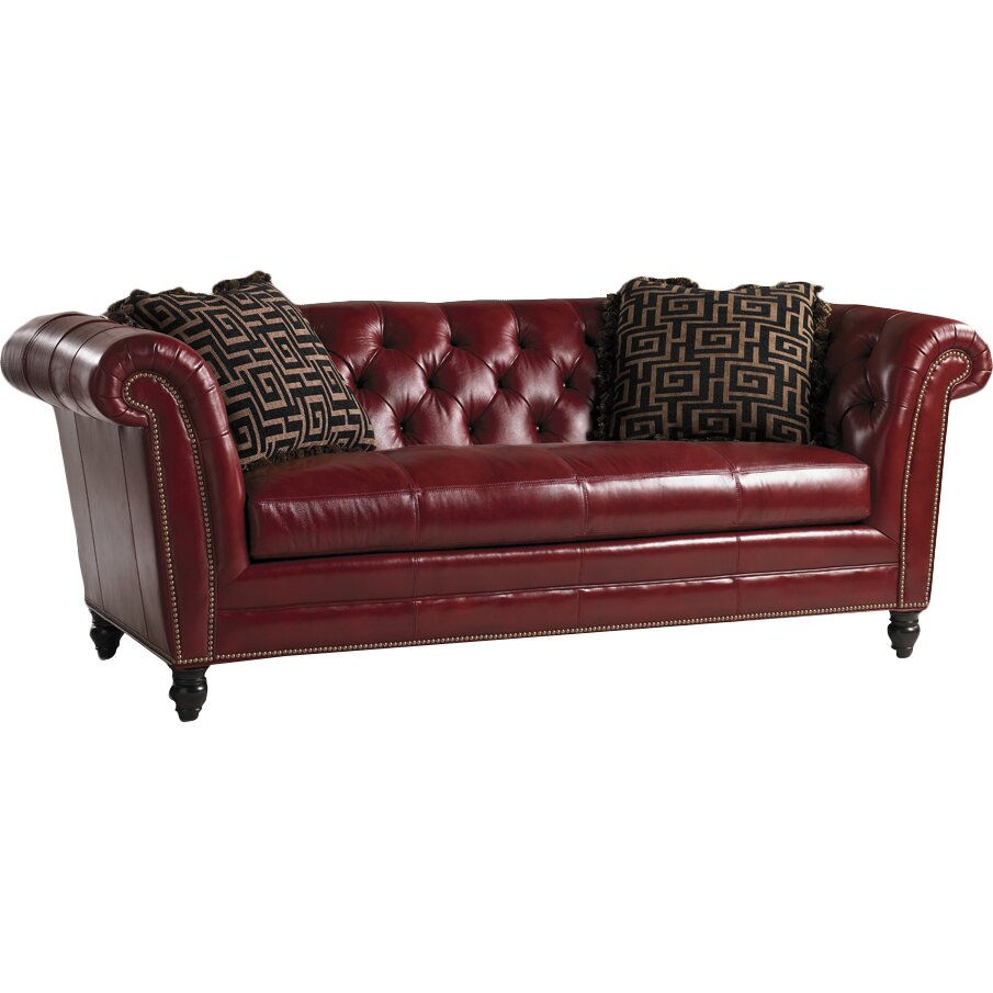 Henry Link Trading Co. Bridgewater Leather Chesterfield Sofa & Reviews | Wayfair