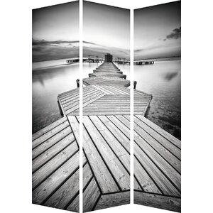180cm x 120cm Calm Jetty Partition 3 Panel Room Divider