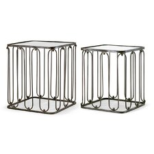 Abana 2 Piece Nesting Tables by Glamour Home Decor