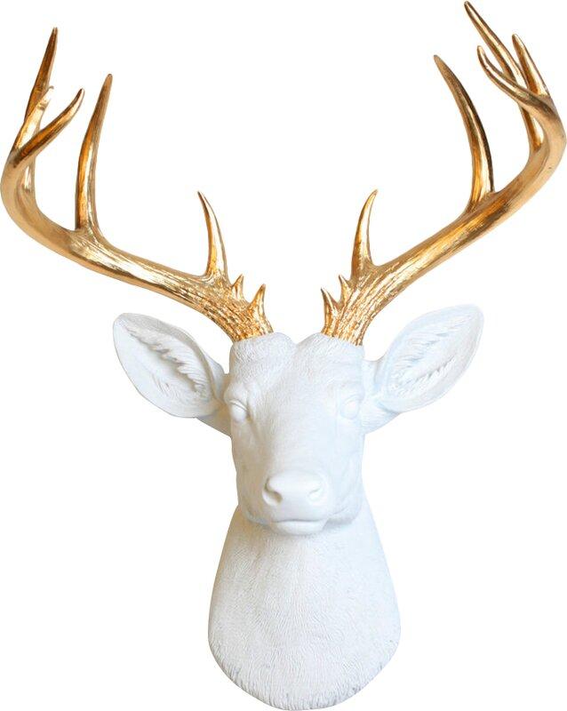 White Faux Deer Head The Best Deer