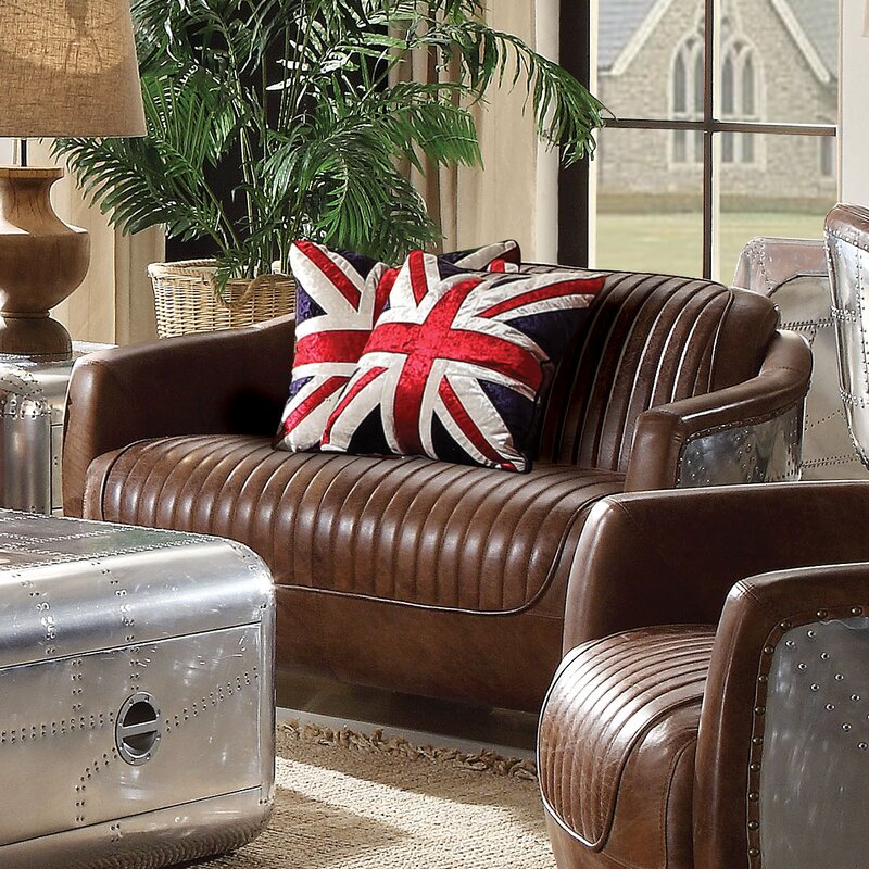 Acme Furniture Brancaster Leather Loveseat Reviews Wayfair