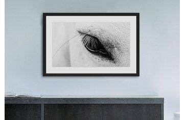 black white framed photography