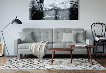 Modern living room furniture allmodern for Modern living room sofas