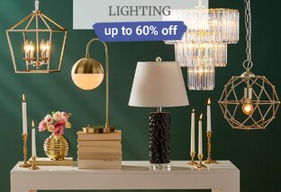 Up to 60% off Lighting