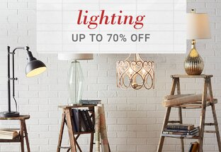 Lighting up to 70% Off