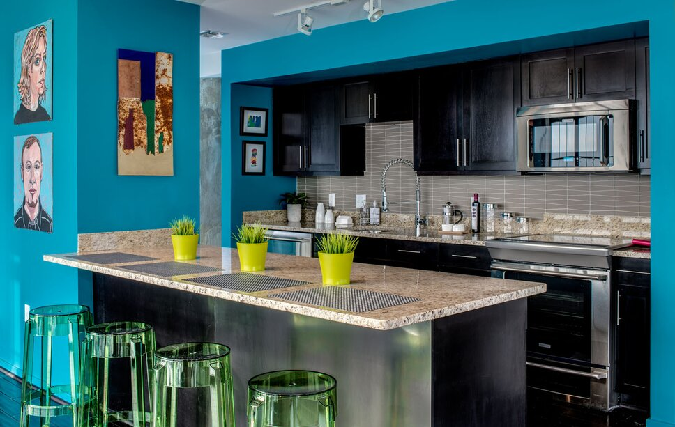 Interior Design by Lauren M. Levine Photography by Karl Connolly Eclectic Kitchen Design