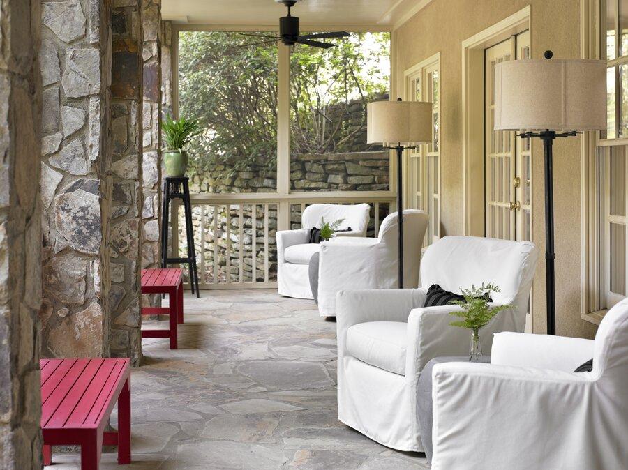 Cottage/Country Exterior, Deck, & Patio Design