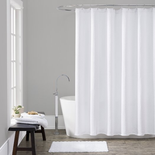 LaMont Cotton Chevron Shower Curtain Reviews AllModern