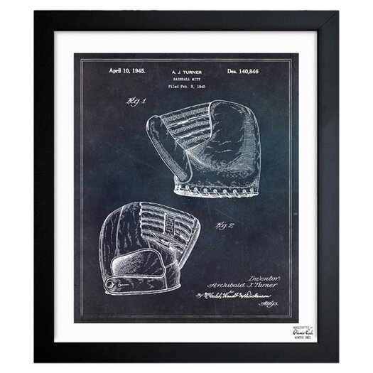Baseball Mitt 1945 Framed Painting Print Amp Reviews Allmodern