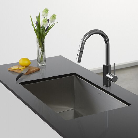 Kraus Faucet Installation : ... Faucet With Quickdock Installation And Deck Lever Pull Kitchen Faucet