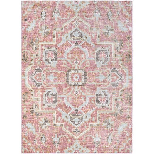 Kamil Pink / Yellow Area Rug & Reviews
