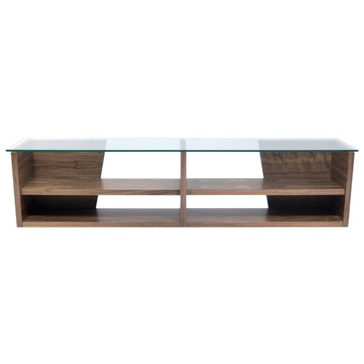 Tema oliva tv stand reviews allmodern for Meuble tv wenge et verre