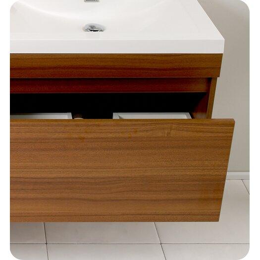 Senza 57 Quot Double Largo Modern Bathroom Vanity Set With