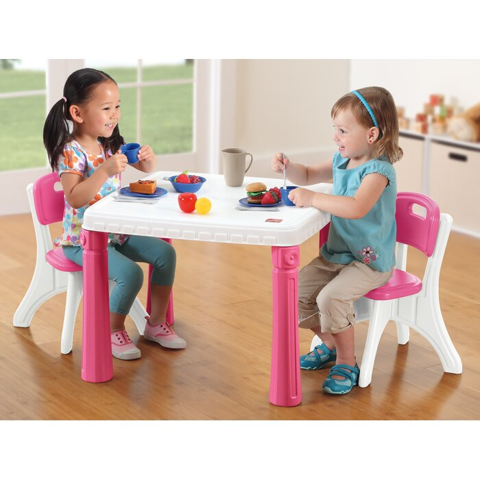 Step 2 Lifestyle Kitchen step2 lifestyle kitchen kids table and chair set & reviews | wayfair