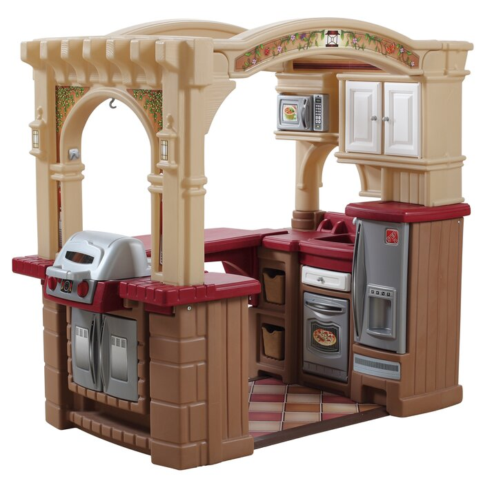 Step 2 Play Kitchen step2 grand walk in kitchen and grill & reviews | wayfair