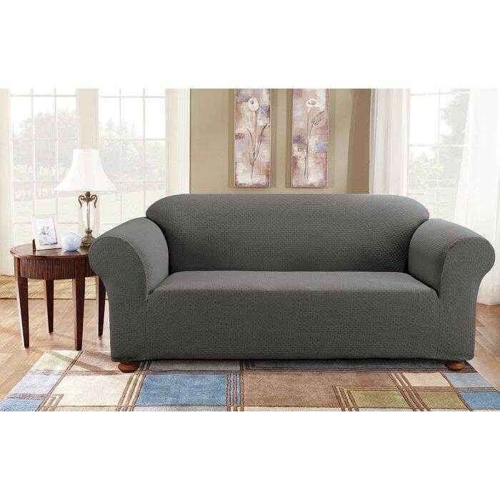 Perfect Sure Fit Simple Stretch Subway Box Cushion Sofa Slipcover U0026 Reviews |  Wayfair