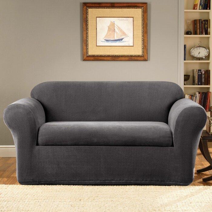Sure Fit Stretch Metro Box Cushion Sofa Slipcover U0026 Reviews | Wayfair