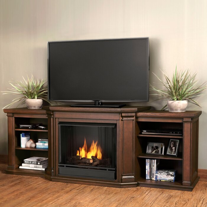 Real Flame Valmont 755 TV Stand with Optional Fireplace