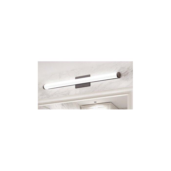 Lithonia Led Bathroom Lighting lithonia lighting cylinder 1-light led bath bar & reviews | wayfair