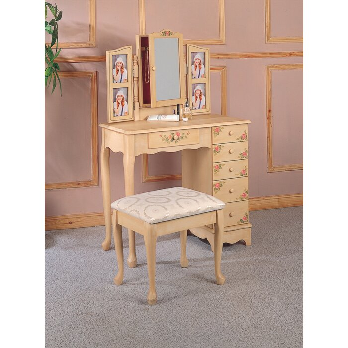 . Wildon Home   Woodway Vanity Set with Mirror   Reviews   Wayfair