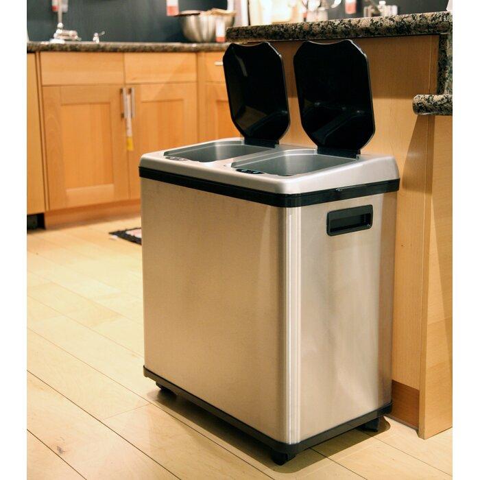 Wildon Home 16 Gallon Multi Compartment Recycling Bin Reviews Wayfair
