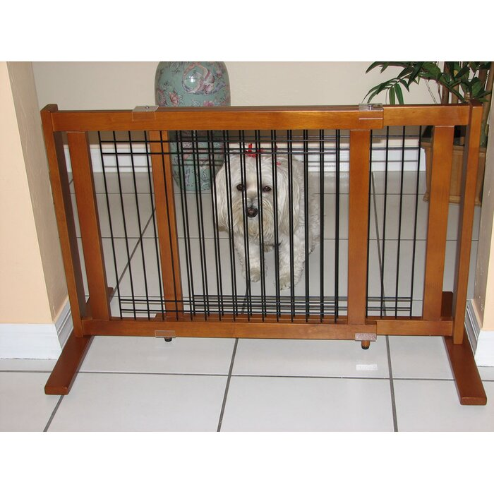 Crown Pet Products Freestanding Wood & Wire Pet Gate & Reviews ...