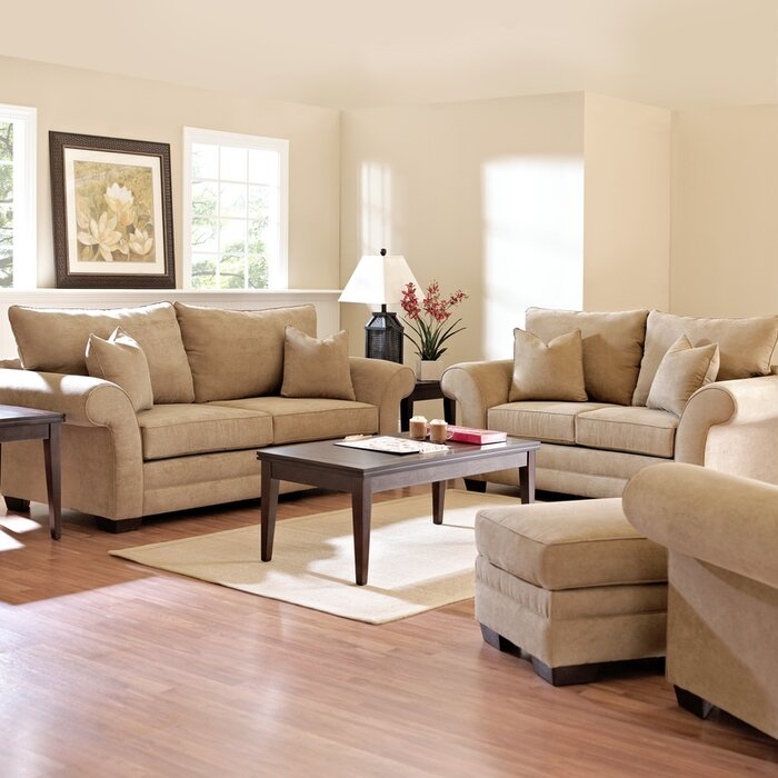 Klaussner Furniture Bart Configurable Living Room Set & Reviews ...