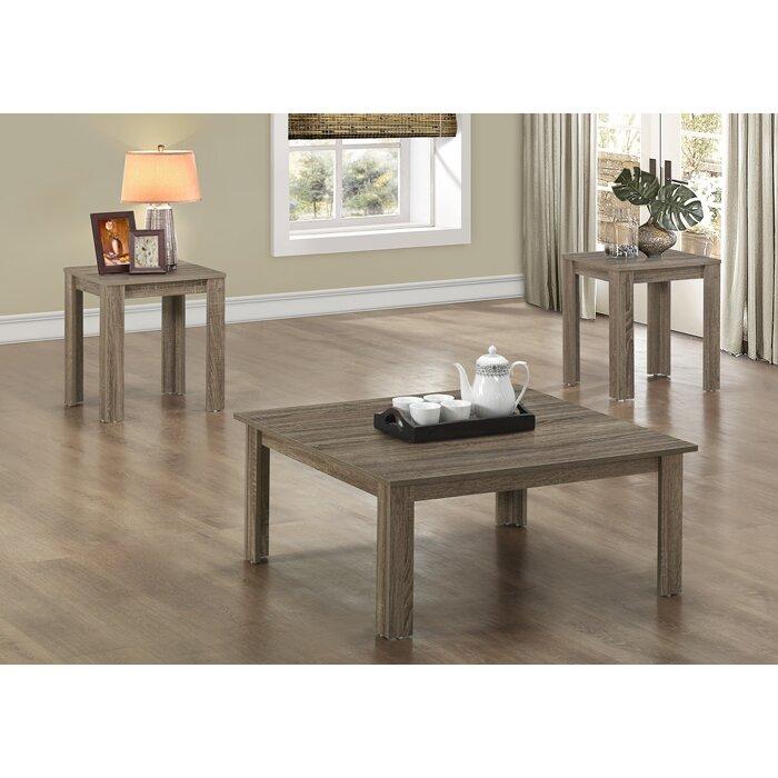 monarch specialties inc. 3 piece coffee table set & reviews   wayfair