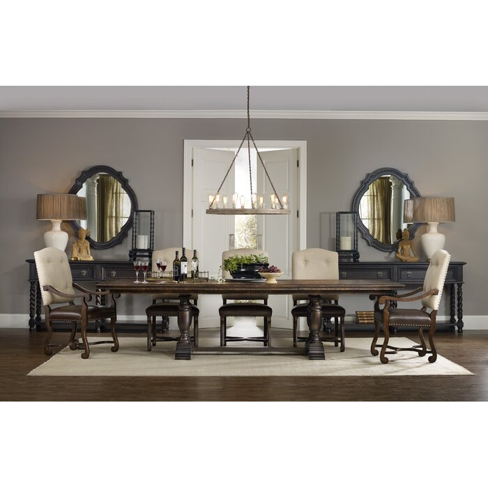hooker furniture treviso extendable dining table & reviews | wayfair