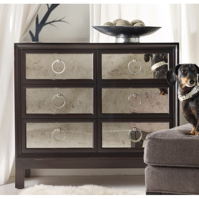 Hooker Furniture Melange 6 Drawer Mirrored Front Chest & Reviews ...