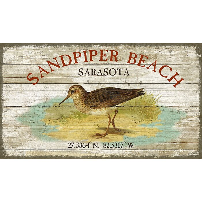 Highland Dunes \'Sandpiper Beach\' by Suzanne Nicholl Graphic Art ...